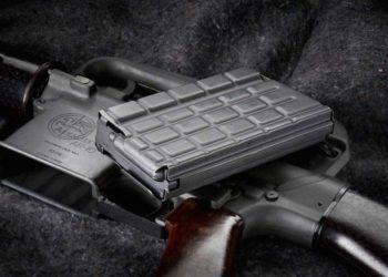 Original ArmaLite AR-10 with Waffle Magazine