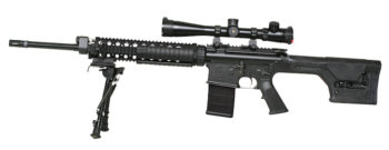 Today's Armalite AR10A Super Sass with PMAG and Scope